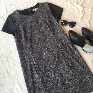 MICHAEL MK Dress Leather Trim & Silver Accents